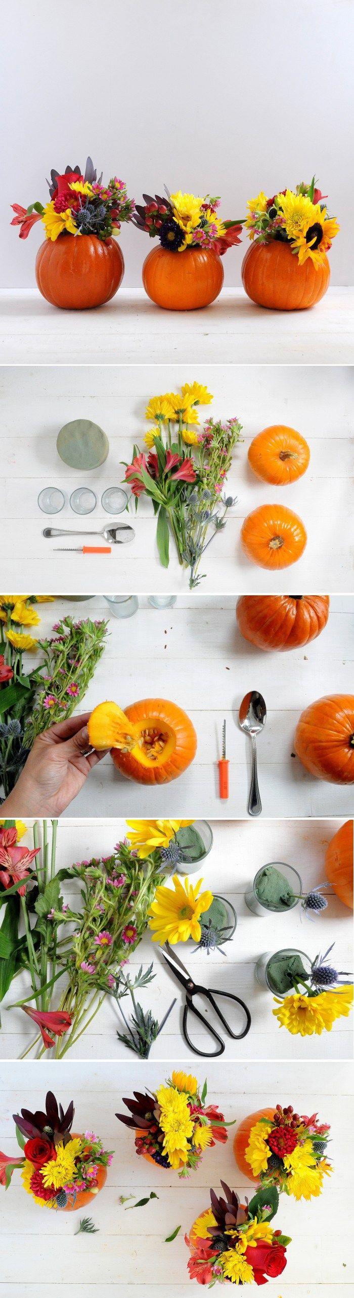 DIY Mini Pumpkin Vase for Fall