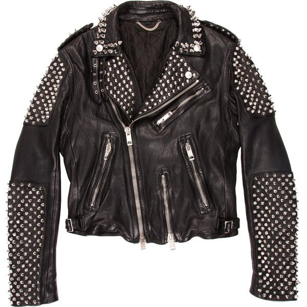 Pre-owned Burberry Prorsum Spiked Leather Jacket (£3,185) ❤ liked on Polyvore featuring men's fashion, men's clothing, men's outerwear, men's jackets, black, mens motorcycle jacket, mens leather sleeve jacket, mens asymmetrical jacket, mens jackets and mens zip jacket