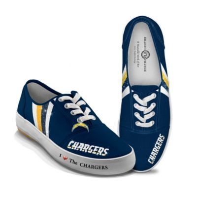 Women's Shoes: I Love The Chargers Women's Shoes - http://bradford-exchange.goshopinterest.com/collectibles/games/womens-shoes-i-love-the-chargers-womens-shoes/