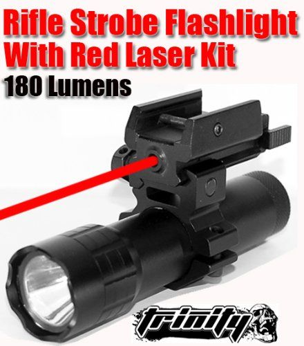 Special Offers - Trinity Supply Hunting Strobe Flashlight with RED Laser Kithunting Rifle Strobe Flashlight with RED Laserhunting Rifle Flashlight 180 Lumens Flashlightxp2 Tactical 180 Lumen 3watt AAA Strobe LED Flashlight / Weaponlight W Gun Mountar Rifle Flashlight Tactical Strobe Flashlight-laser Kit.fast Shipping - In stock & Free Shipping. You can save more money! Check It (June 12 2016 at 05:24AM)…