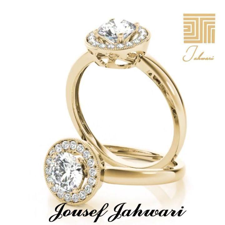 خاتم الماس مصنوع من ال ذهب الأصفر يختصر حكاية عشق تصميم مصمم ال مجوهرات يوسف الجهوري Jousef Jahwari المملكة العربية ال Engagement Rings Jewelry Rings