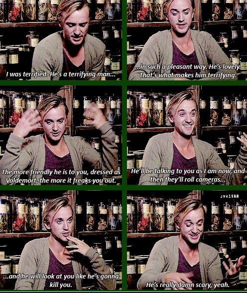 Tom Felton on working with Ralph Fiennes on the set of HP