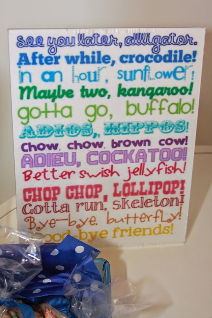 17 Best Images About Going Away Party Ideas On Pinterest
