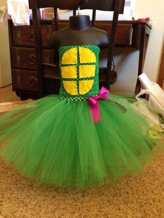 Teenage Mutant Ninja Turtles inspired Donatello tutu dress - girl ninja turtle - Halloween ideas size newborn to 5t - costume