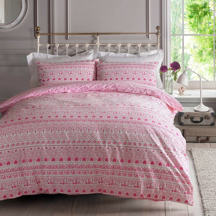 Emma Bridgewater SAMPLER Pink Love Hearts Bedding 100