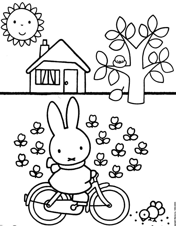 coloring page of miffy