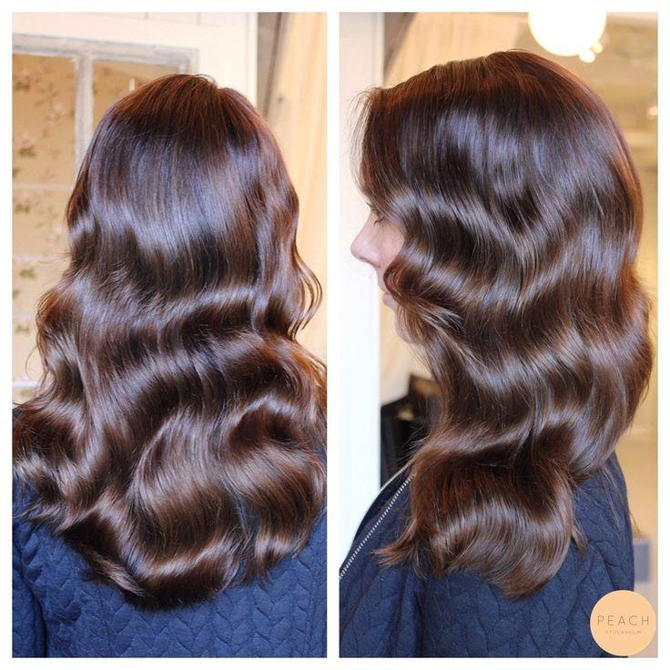 Chokladbrun hårfärg