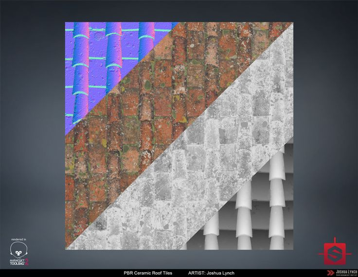 ArtStation - PBR Procedural Ceramic Roof Tiles Material Study 02, Joshua Lynch