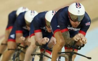 Bradley Wiggins, Ed Clancy, Steven Burke, and Owain Doull made short work of their qualification for today's team pursuit final