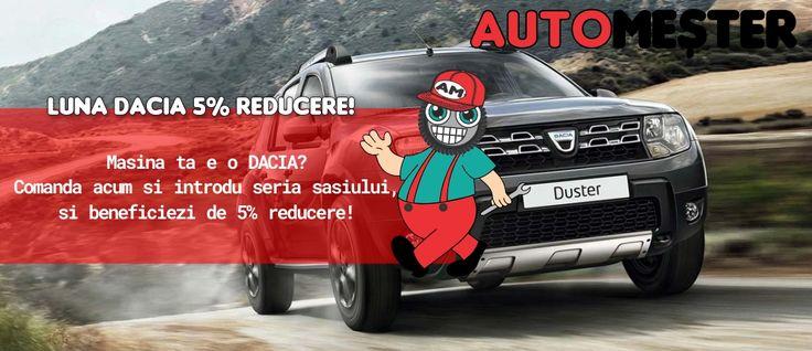 In luna Aprilie ai reduceri la orice auto Dacia. Cumpara acum orice produs de pe automester.ro la reducere pentru Dacia.