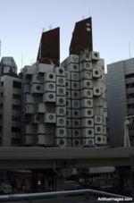 Nakagin Capsule Tower  Designer Kisho Kurokawa , Architect  Location Tokyo, Japan