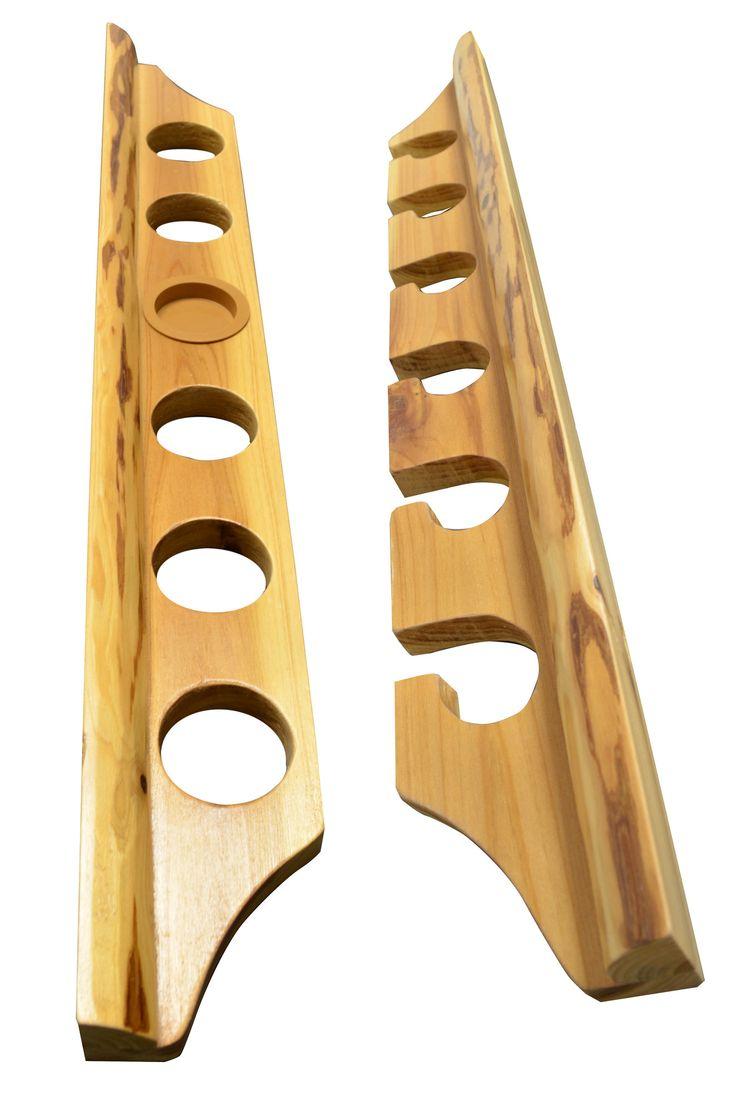 www.pinterest.com/1895gunner/ | 2 Piece Vertical and Horizontal Fishing Rod Rack