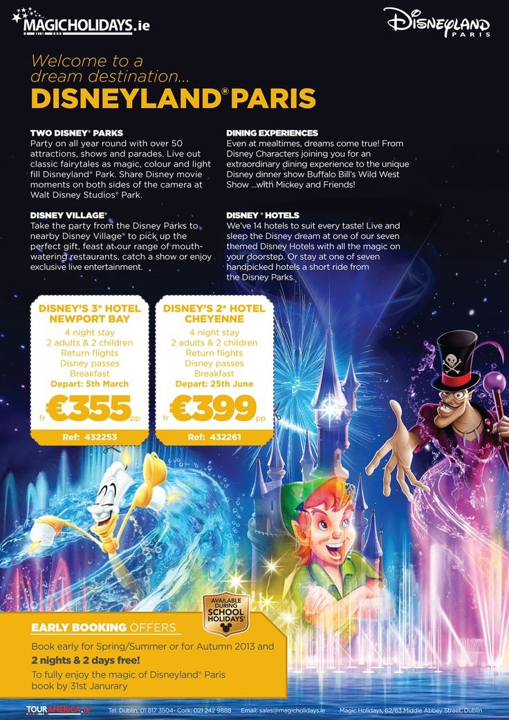 Magic Holidays - Disneyland Paris special offer deals and park information