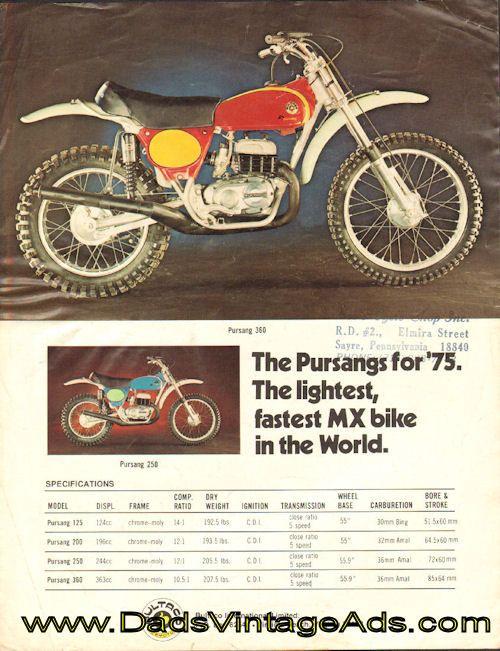 1975 Bultaco Pursang Brochure – '75…the year of the Bul. » www.DadsCycleMags.com
