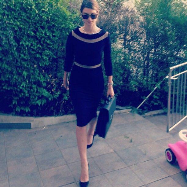 Ava Dress worn as a classy office outfit. http://www.sdress.com/shop/