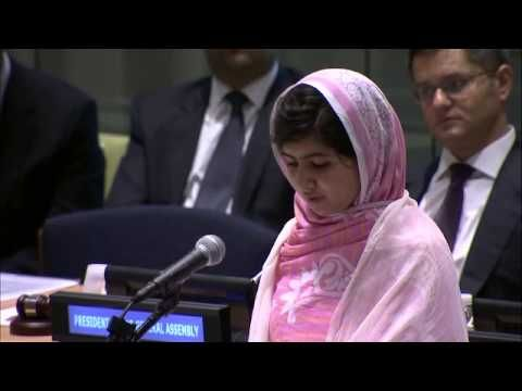 "TRUE LEADER ""There was a time when women activists asked men to stand up for their rights, but this time WE WILL DO IT OURSELVES.""  (min. 11:59) ; ‪Malala Yousafzai, Nobel Peace Prize contender 2013,  addresses United Nations Youth Assembly on her 16th Birthday‬‏. PURE INSPIRATION!!!"
