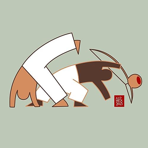 Encres : Capoeira - 264 vectoriel [ #capoeira #watercolor #illustration ]