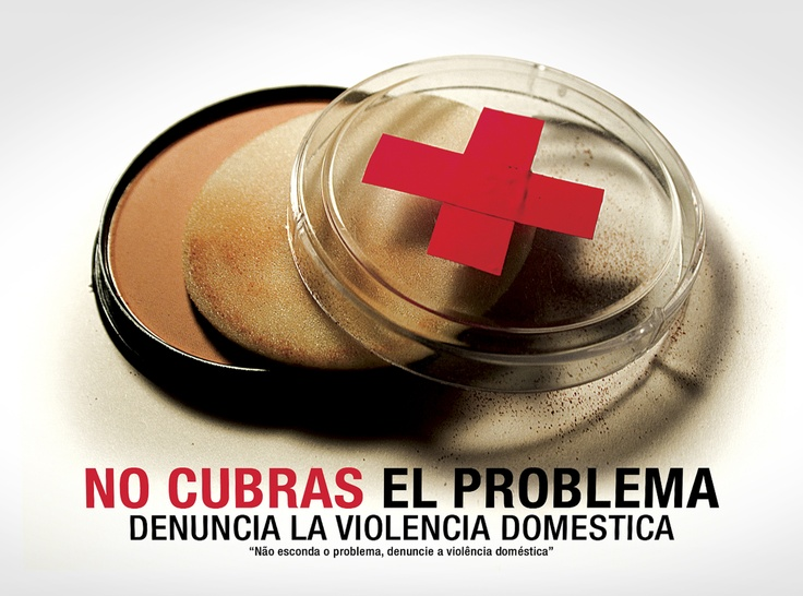 Afiche contra la violencia doméstica