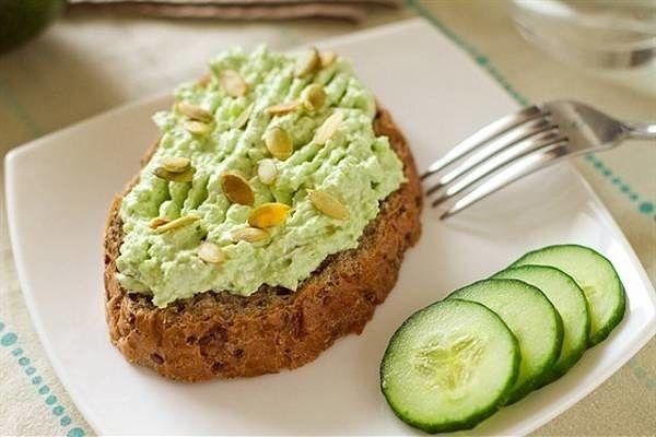 Творожно-авокадная намазка для бутербродов