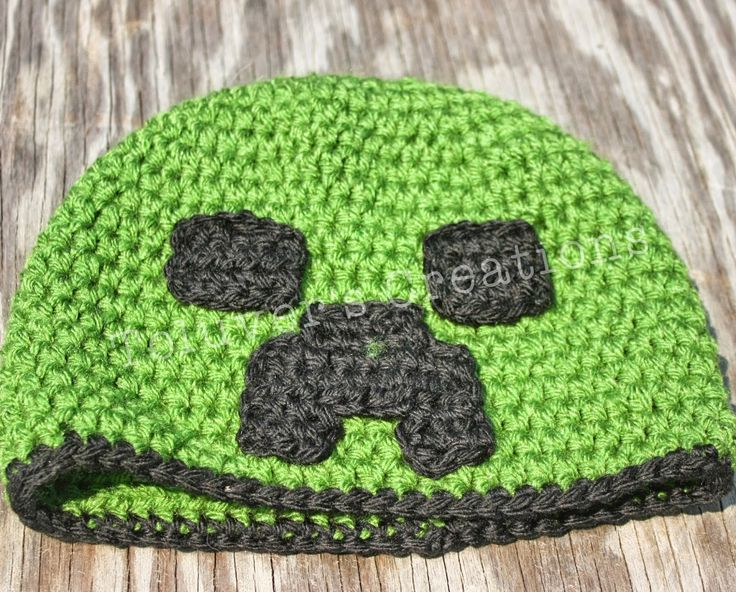 Toluver's Creations: MineCraft Creeper Hat Free Pattern