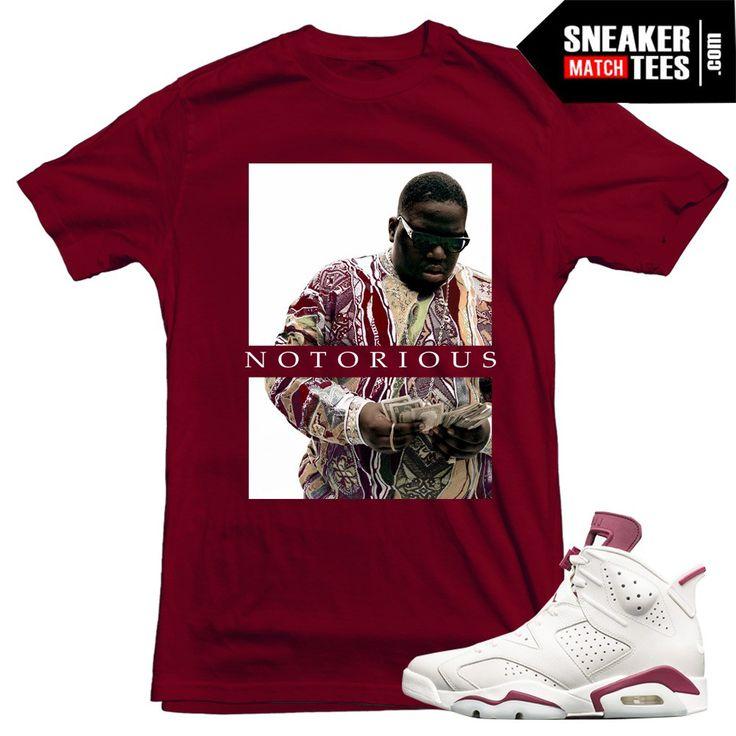Maroon 6s Jordans sneaker tees Streetwear matching Jordan Retros| Sneaker Match Tees