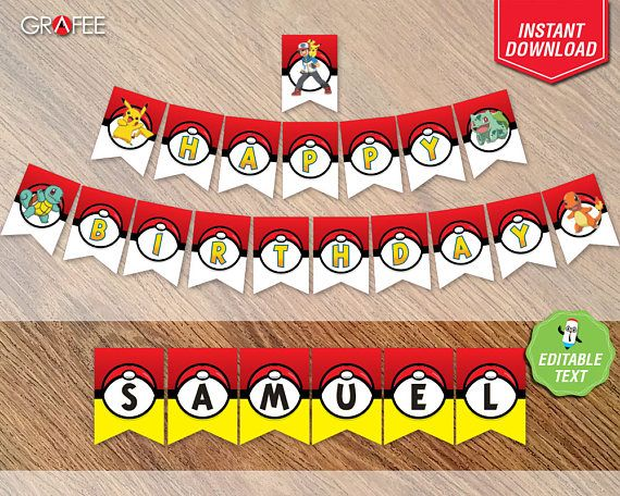Hey, I found this really awesome Etsy listing at https://www.etsy.com/uk/listing/520444270/pokemon-banner-pennants-pokemon-party