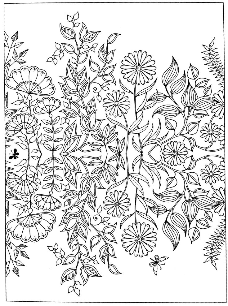 1179 Best Images About Adult Colouring Flowers On Pinterest Dovers Floral Patterns And Gel Pens