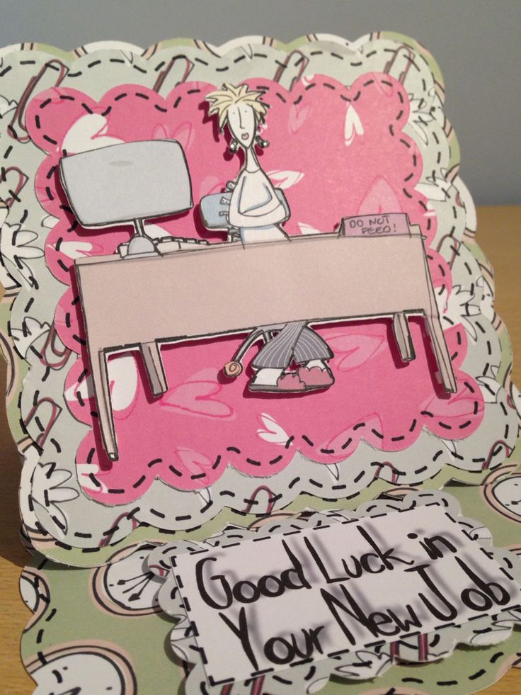 Good Luck in Your New Job easel card.