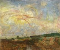 Adam and Eve Expelled from Paradise - James Ensor