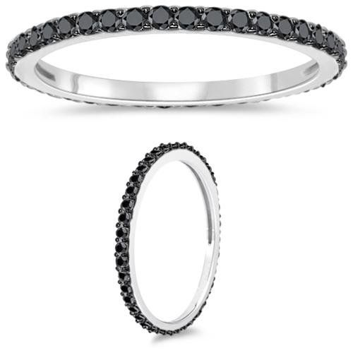 Thin black diamond band. We just purchased today for our wedding.
