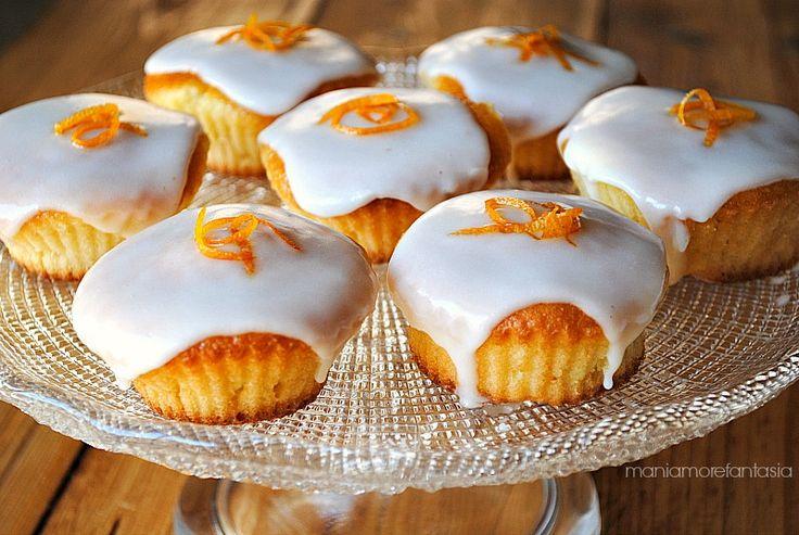 pan d'arancio cupcake con glassa al liquore d'agrumi