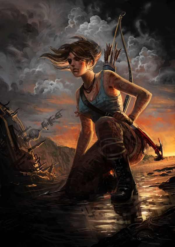 Tomb Raider by tinosukae - The Art of Tomb Raider  <3 <3
