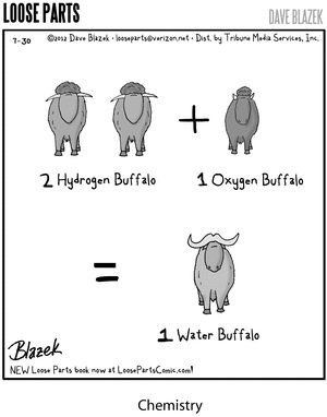 How to make a water buffalo. I think I'm going to use then when I teach water chemistry!