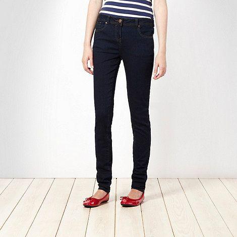 Dark blue super skinny jeans #DIY #FASHION