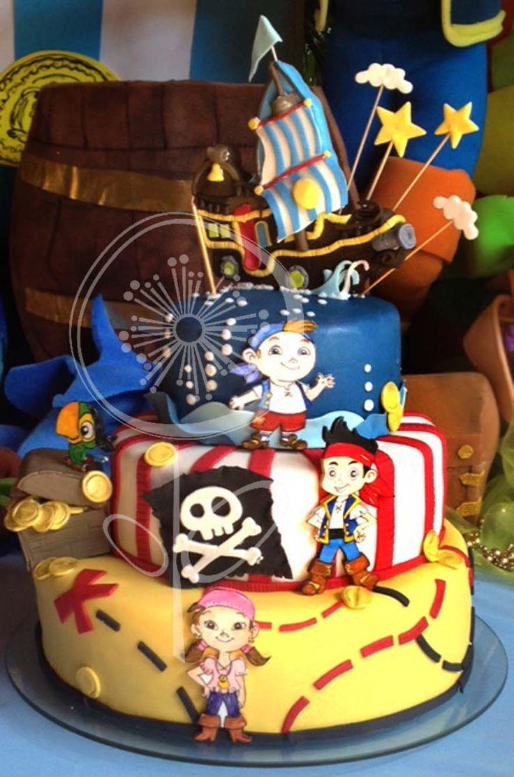 Torta de Jake y los Piratas del nunca Jamás