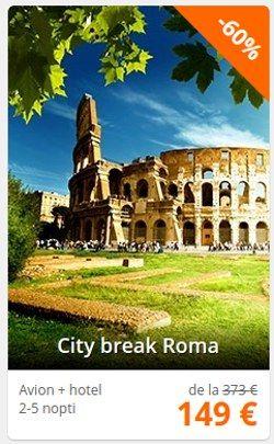 Oferte city-break Roma cu 60% Reducere
