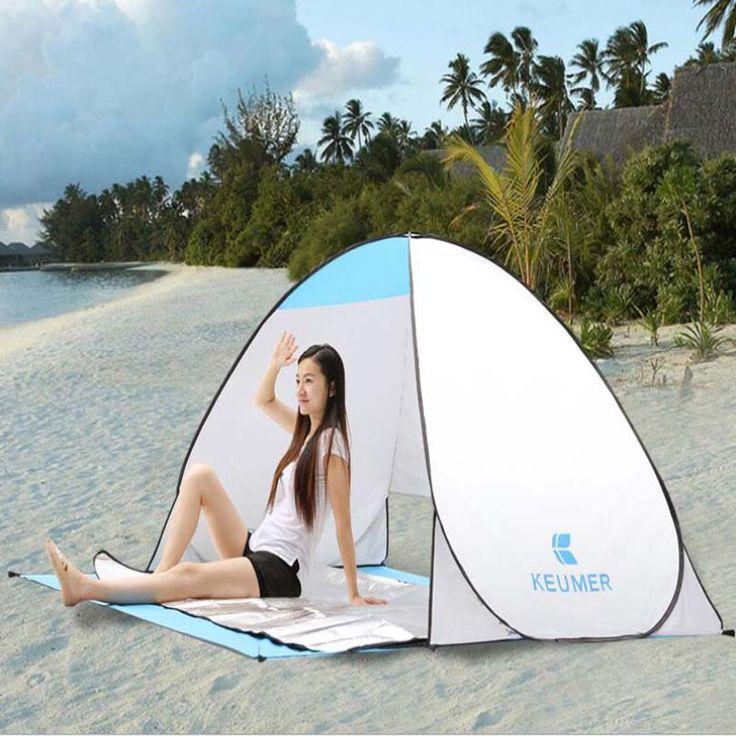 Летом пляж палатка уф-защитой quick-автоматическое открытие отдых на пляже палатку переносной ультрафиолетовый доказательство летом пляж палатка