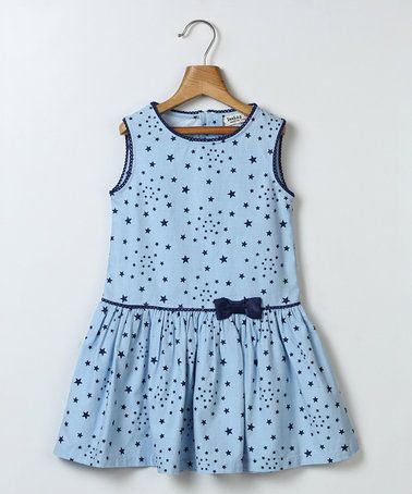 Look at this #zulilyfind! Blue Chambray Star Dress - Infant, Toddler & Girls #zulilyfinds
