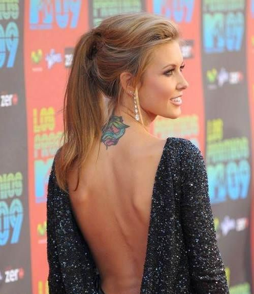 Back Of Neck Cute Tattoos For Girls