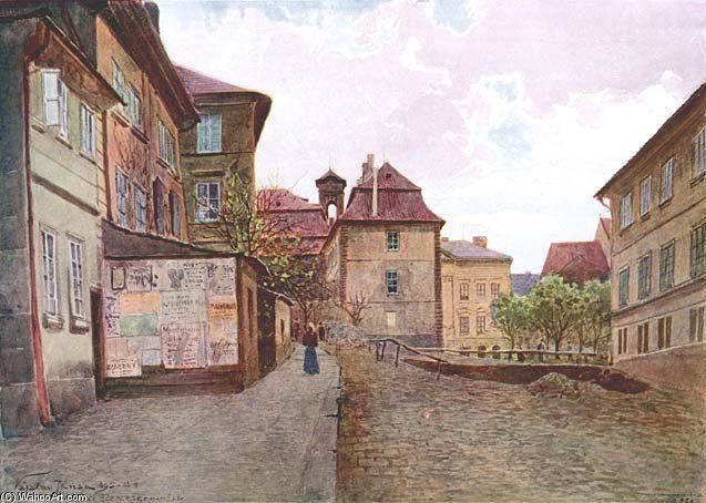 Na Zderaze de Vaclav Jansa (1859-1913, Czech Republic)