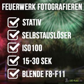Du möchtest Feuerwerk fotografieren? Dann habe ich auf die schnelle ein paar Tipps für dich! Viel Spaß beim Feuerwerk fotografieren!