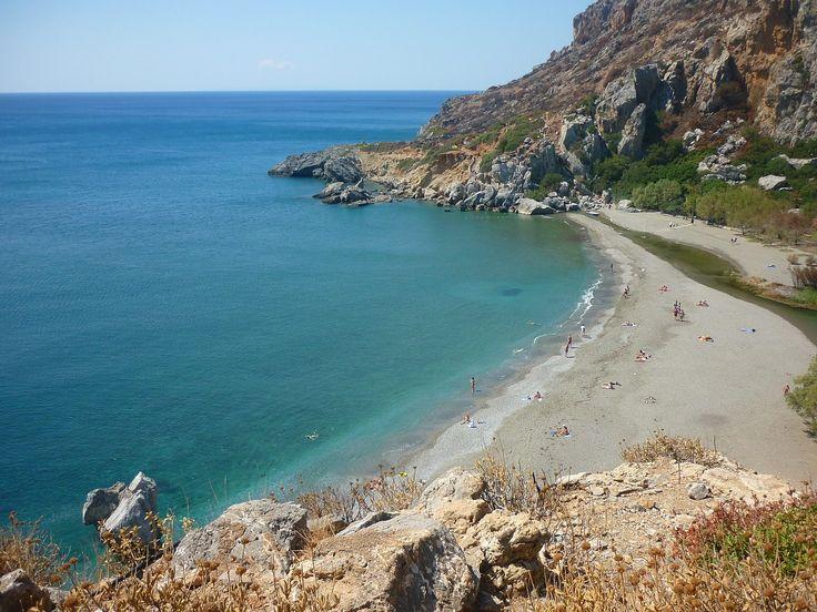 Preveli Beach, Kreta #Greece #Grekland #Crete #Kreta #Beach #Strand #rocks #klippor #vacker #beautiful #vacation #semester #ocean #hav #Preveli #island #mediterranean #medelhavet