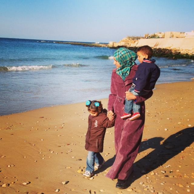 "A walk on the beach offers a temporary break from the difficulty of life right now. ""I imagined I would come to Lebanon as a tourist. Not a refugee."""