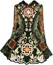 Traditional Irish dance costume