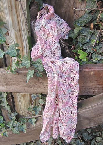Ravelry: Mirabelle Lace Scarf pattern by Jennifer Burke