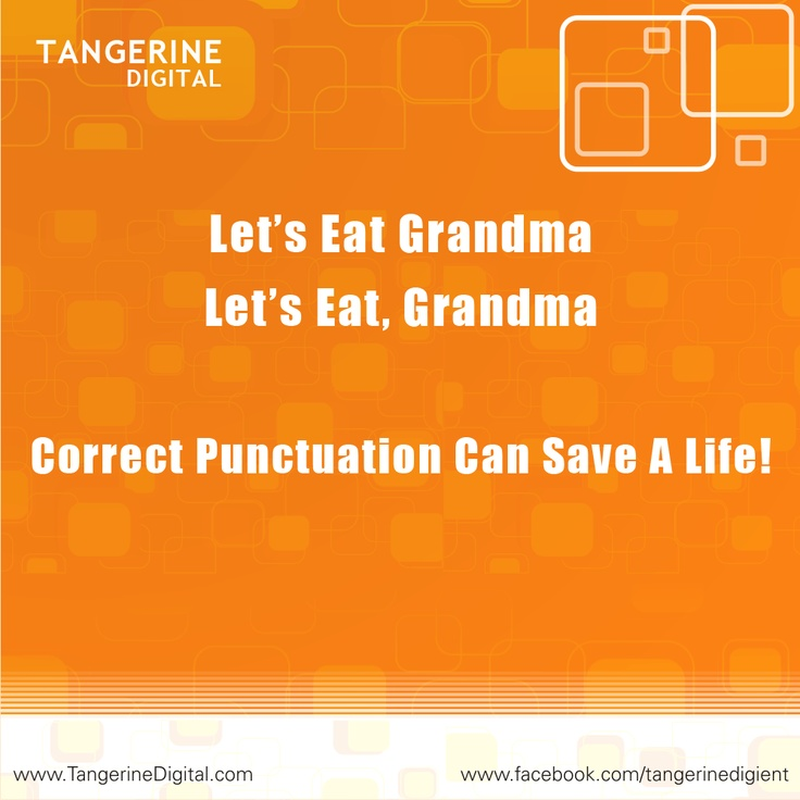 Tangerine Digital ; A Punctuation can make a Difference!