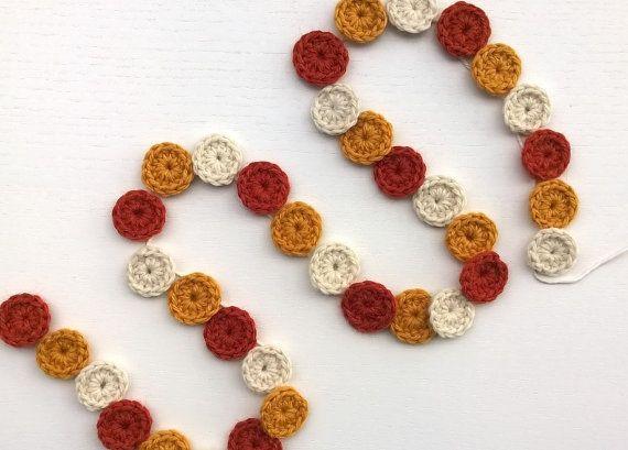 Crochet Garland Halloween Candy Corn by AGirlNamedMariaDK on Etsy