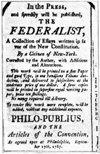 The Federalist Papers. Takes you to a home page then you can click on the specific Federalist Paper you want to study.