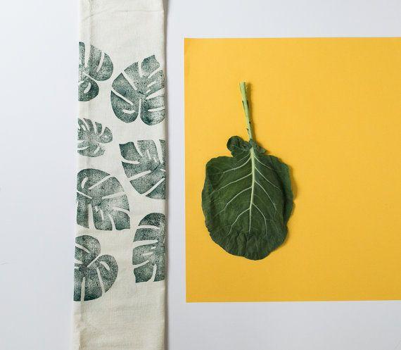 Block gedruckt Geschirrtuch  ungebleichte Mehl von confettiriotshop