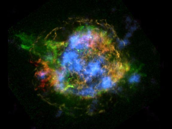 Esta impressionante imagem do espaço é o primeiro mapa de radioatividade de um remanescente de supernova.